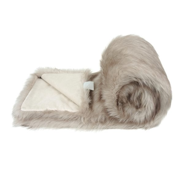 OYSTER | FAUX FUR | BED RUNNER