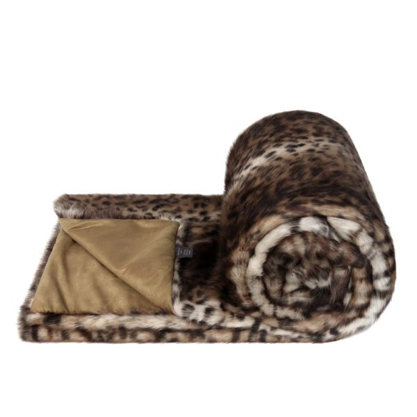 Ocelot Faux Fur Bed Runner