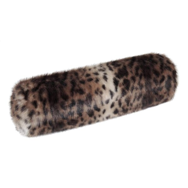 Ocelot Faux Fur Bolster Cushion