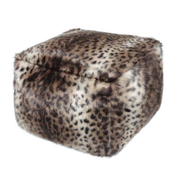 Ocelot Faux Fur Cube