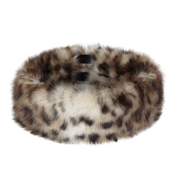 Ocelot Faux Fur Huff