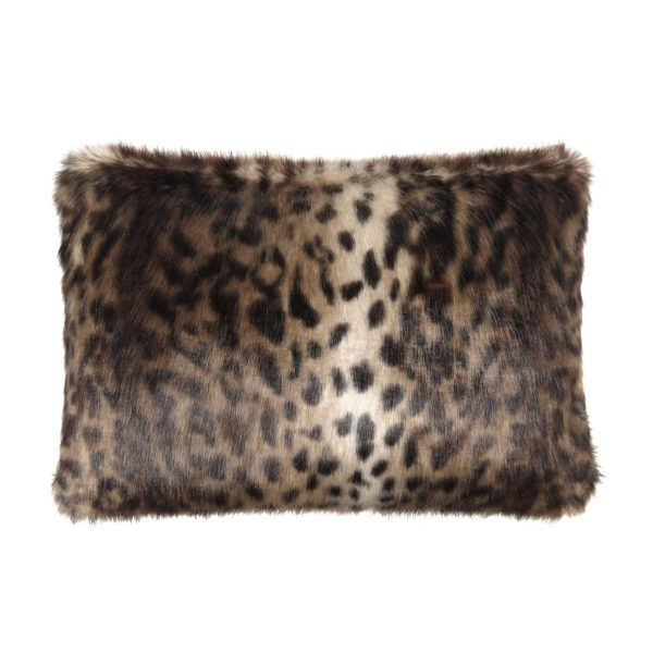 Ocelot Faux Fur Rectangular Cushion