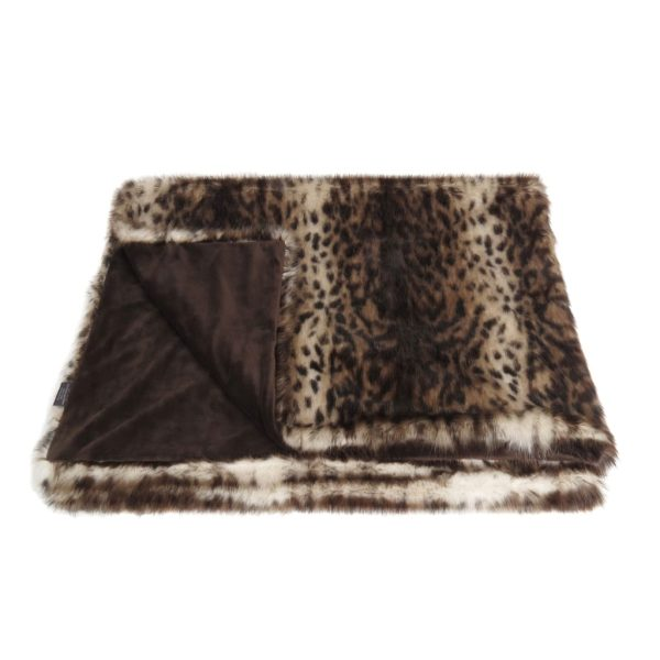 Ocelot Faux Fur Throw