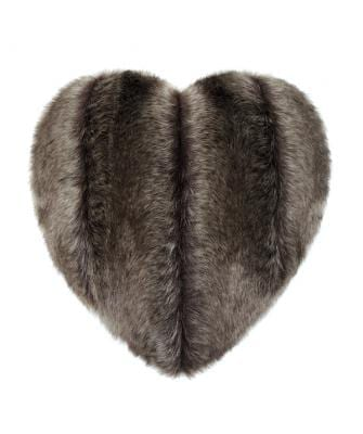 Oregon Faux Fur Heart Cushion