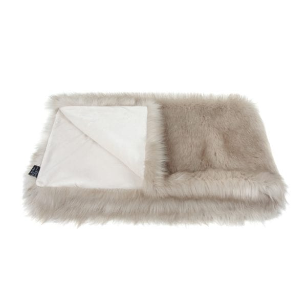 Oyster Faux Fur Comforter