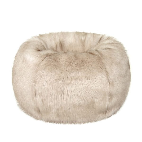 Oyster Faux Fur Giant Beanbag