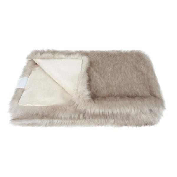 Oyster Faux Fur Throw