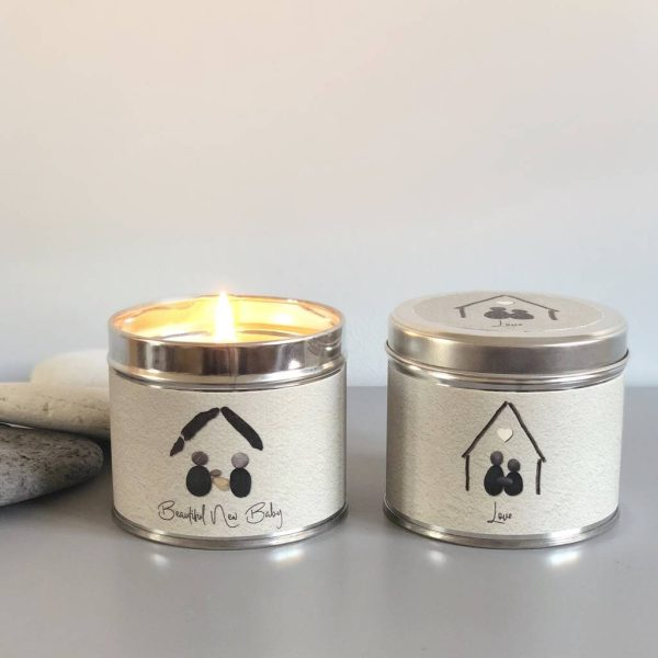 Pebble People Tin Candle - 'Beautiful New Baby'