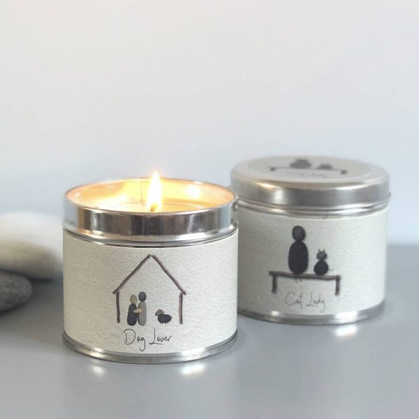 Pebble People Tin Candle - 'Cat Lady'