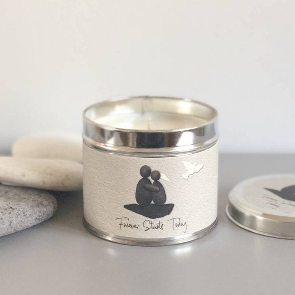 Pebble People Tin Candle - 'Forever Starts Today'
