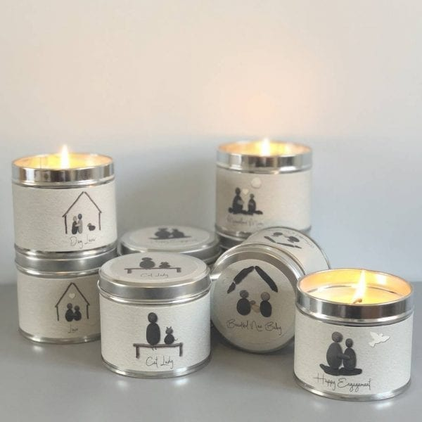 Pebble People Tin Candle - 'Happy Engagement'