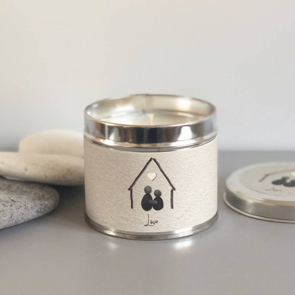Pebble People Tin Candle - 'Love'