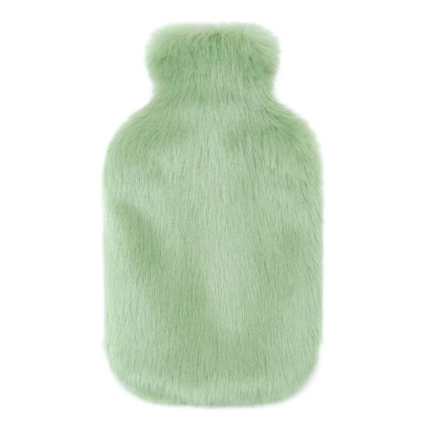 Pistachio Faux Fur Hot Water Bottle