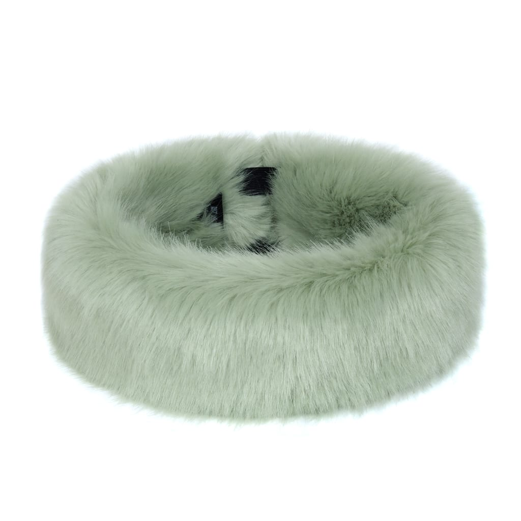 Pistachio Faux Fur Huff
