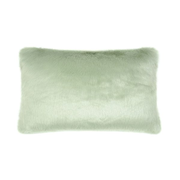 Pistachio Faux Fur Rectangular Cushion