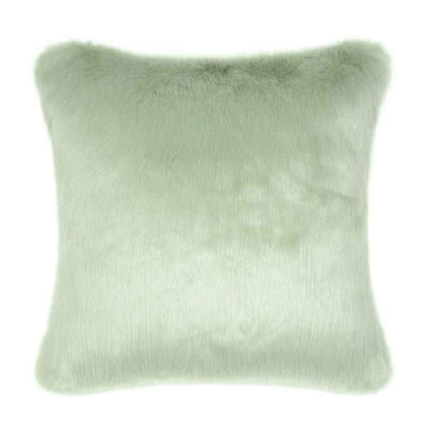 Pistachio Faux Fur Square Cushion