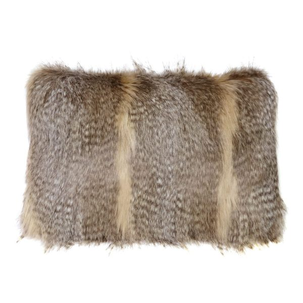 SIBERIAN WOLF | FAUX FUR | RECTANGULAR CUSHION
