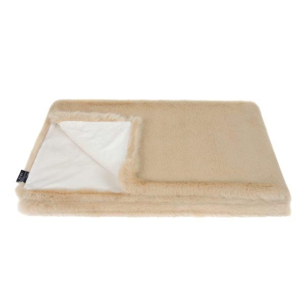Sand Faux Fur Comforter