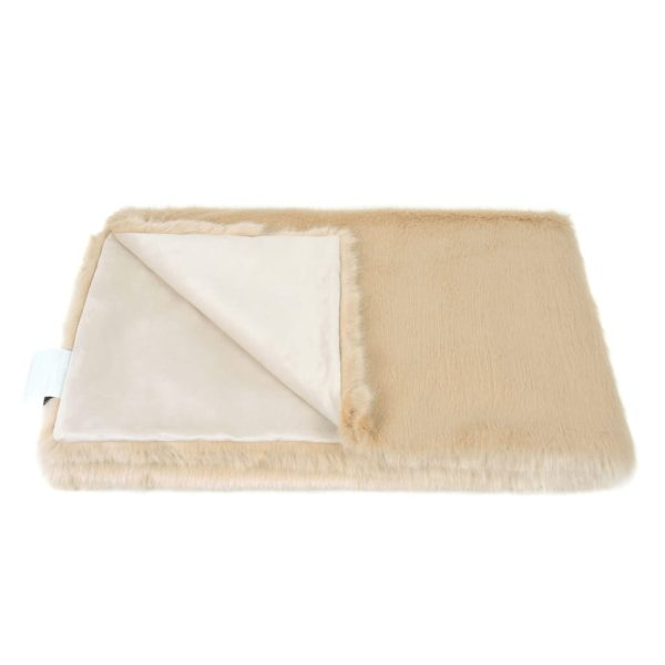 Sand Faux Fur Throw