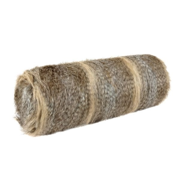 Siberian Wolf Faux Fur Bolster Cushion