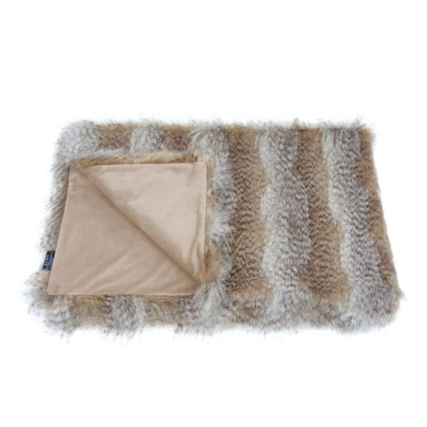 Siberian Wolf Faux Fur Comforter