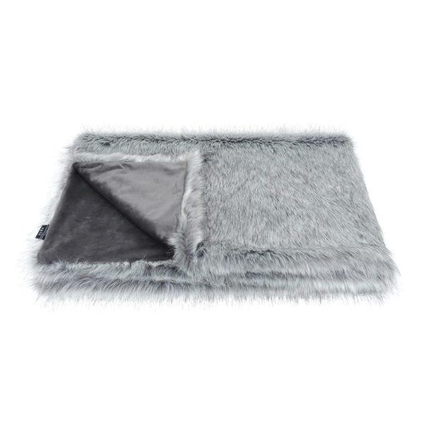 Silver Faux Fur Comforter