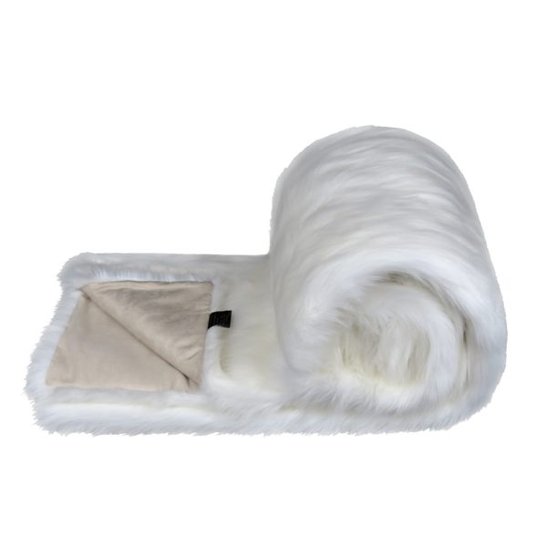 Snow White Faux Fur Bed Runner
