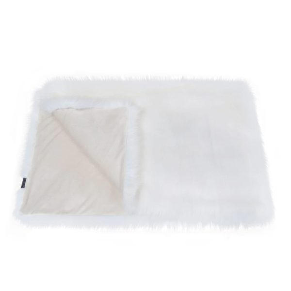 Snow White Faux Fur Throw