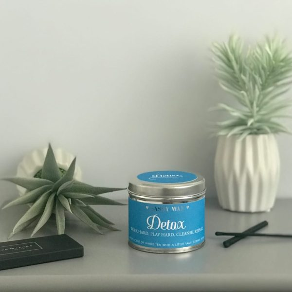 Soy Wax Tin Candle - 'Detox'