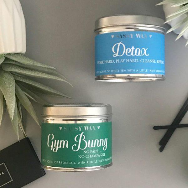 Soy Wax Tin Candle - 'Detox'