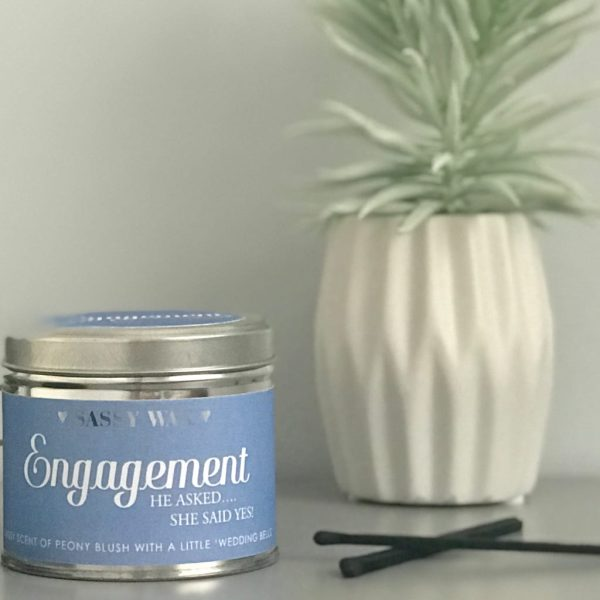 Soy Wax Tin Candle - 'Engagement'