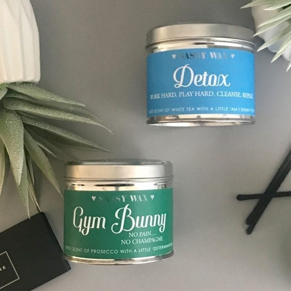 Soy Wax Tin Candle - 'Gym Bunny'