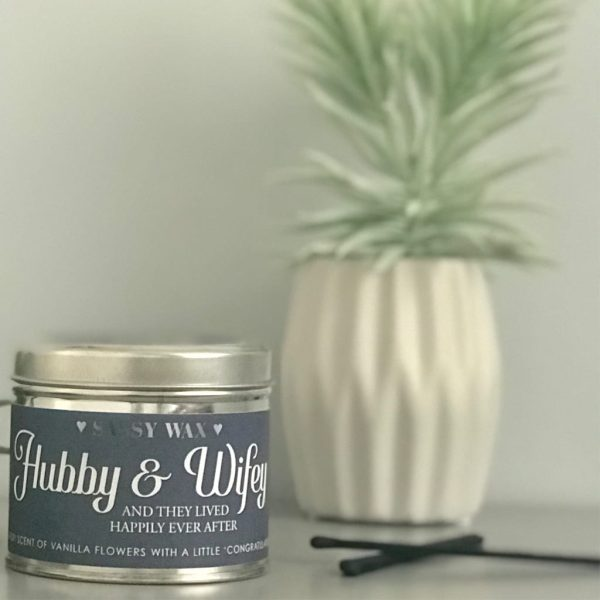 Soy Wax Tin Candle - 'Hubby & Wifey'