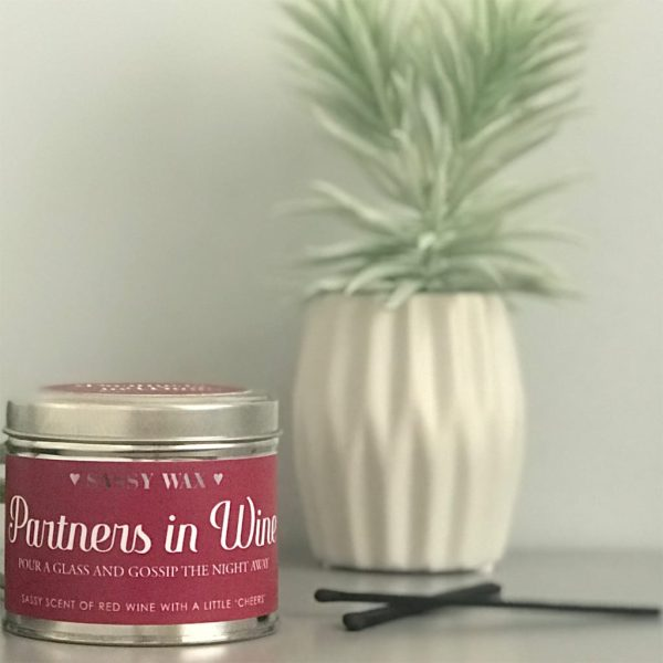 Soy Wax Tin Candle - 'Partners In Wine'