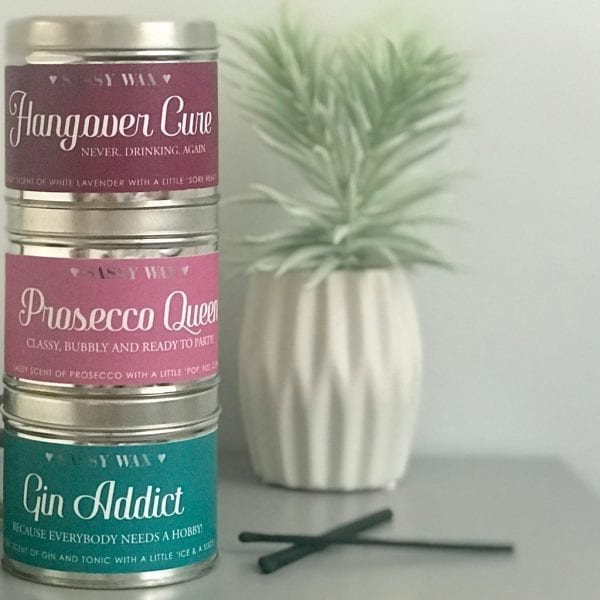 Soy Wax Tin Candle - 'Prosecco Queen'