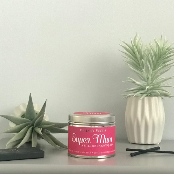 Soy Wax Tin Candle - 'Super Mum'