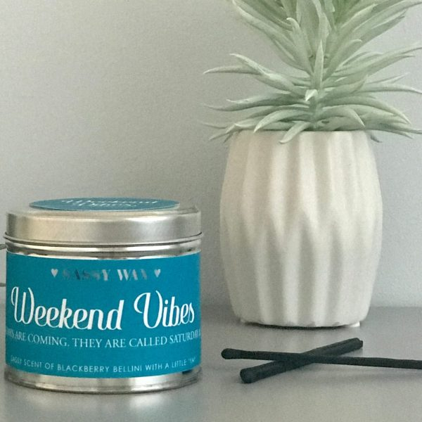 Soy Wax Tin Candle - 'Weekend Vibes'
