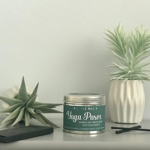 Soy Wax Tin Candle - 'Yoga Poser'