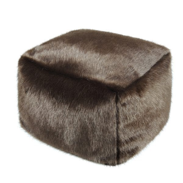 Treacle Faux Fur Cube