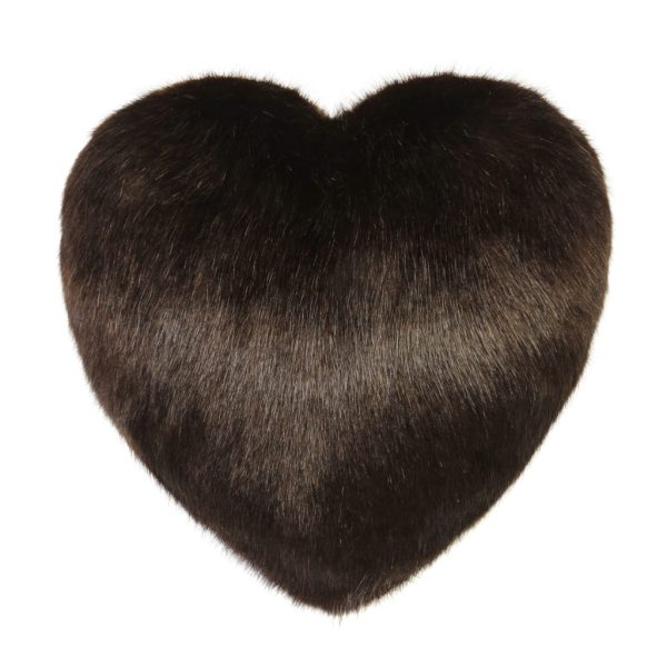 Treacle Faux Fur Heart Cushion
