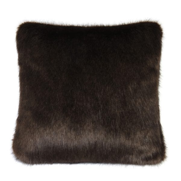Treacle Faux Fur Square Cushion