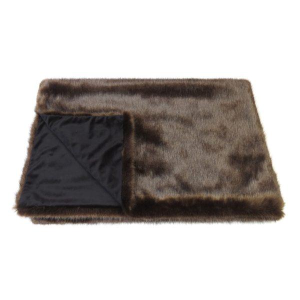 Treacle Faux Fur Throw