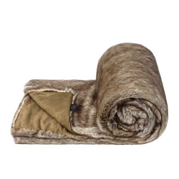 Truffle Faux Fur Bed Runner