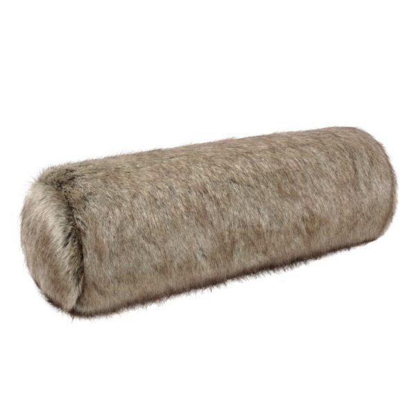 Truffle Faux Fur Bolster Cushion