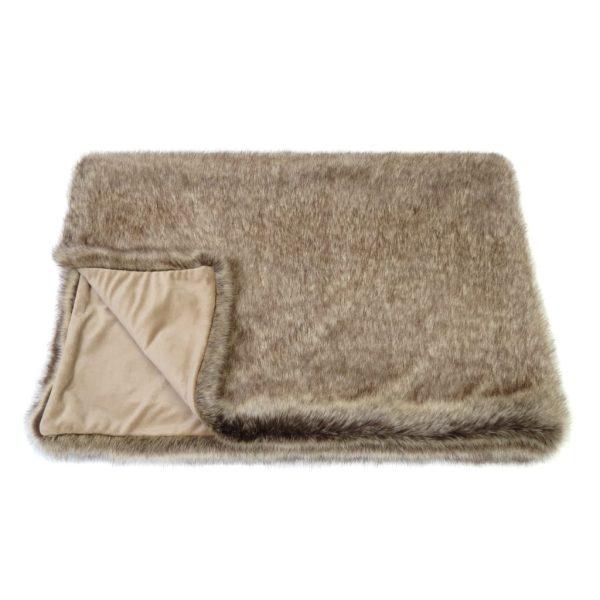 Truffle Faux Fur Comforter