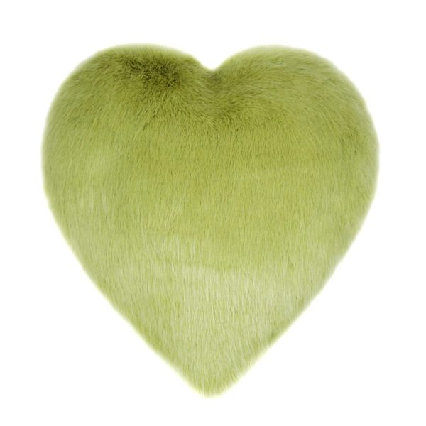 Willow Faux Fur Heart Cushion