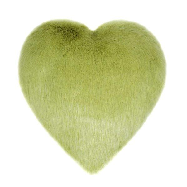 Willow Faux Fur Heart Cushion