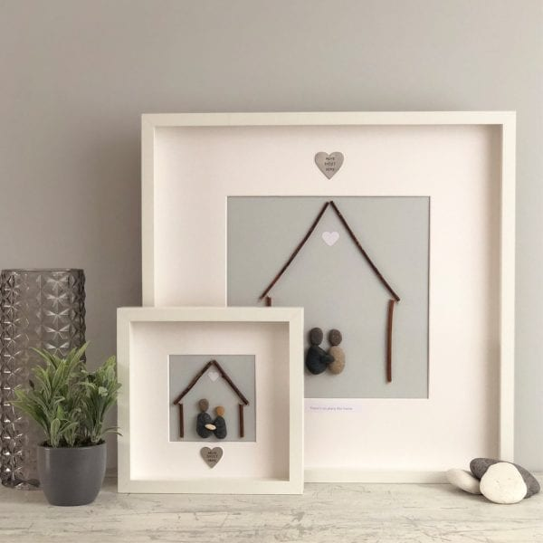 'A House Is Not A Home Without A Cat' Pebble Picture