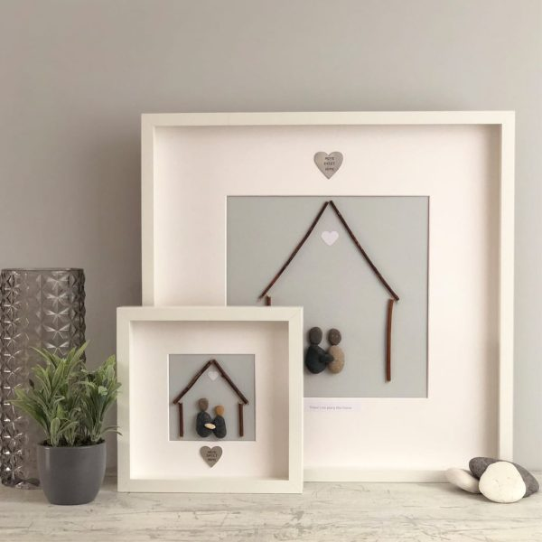'A House Is Not A Home Without A Dog' Pebble Picture