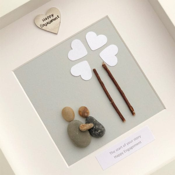 'The Start Of Your Story Happy Engagement' Pebble Picture